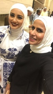 with Dalal ALdoub makeup blogger @dalalid